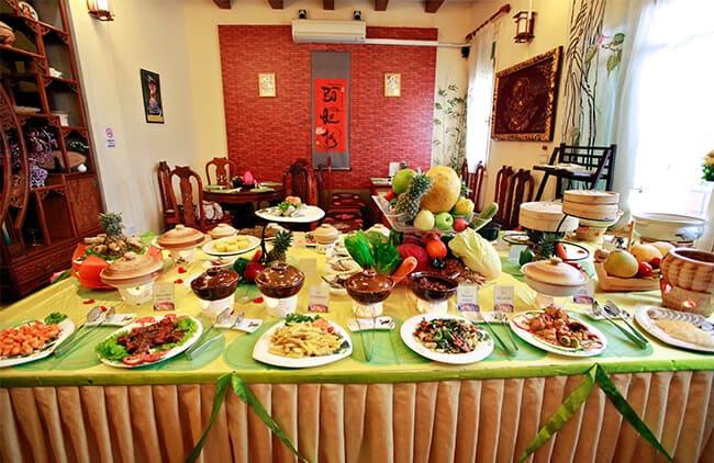 Nhà hàng Bồ Đề Tâm chuyên phục vụ buffet chay