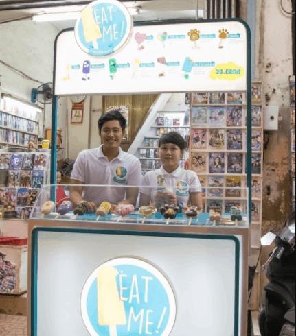 Quán kem Eat Me với nhiều loại kem có hình dạng khác nhau