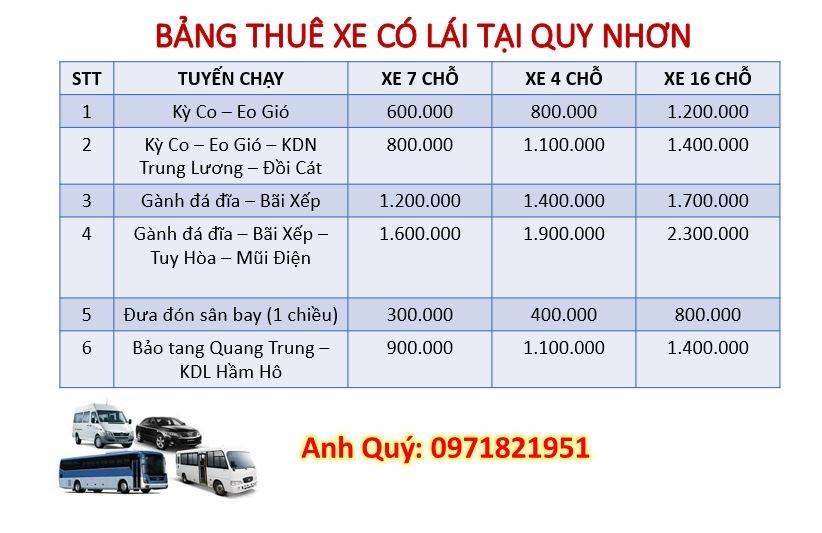 Dịch vụ thuê xe có lái kiêm hướng dẫn viên du lịch ở Quy Nhơn của công ty xe du lịch du lịch Ánh Sao Vàng Travel.