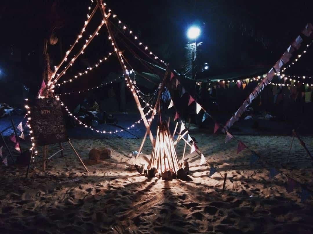 Khu du lịch sinh thái Tiên Sa địa điểm lý tưởng cho việc đốt lửa trại