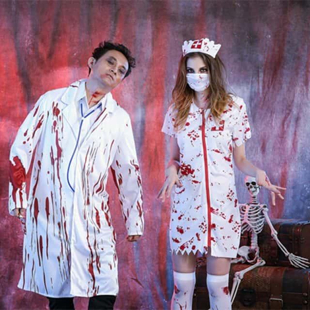 halloween mặc trang phục bác sỹ