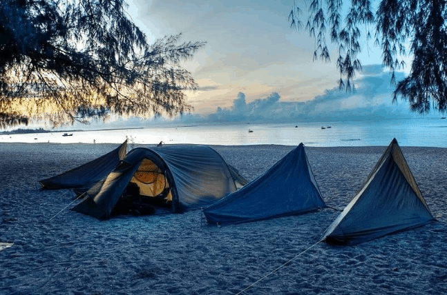 khu cắm trại ở vũng tàu
