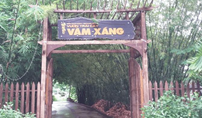 Cổng vào vườn trái cây Vàm Xáng (Ảnh ST)