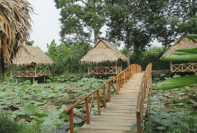 Khung cảnh thơ mộng của vườn sinh thái Lê Lộc (Ảnh ST)