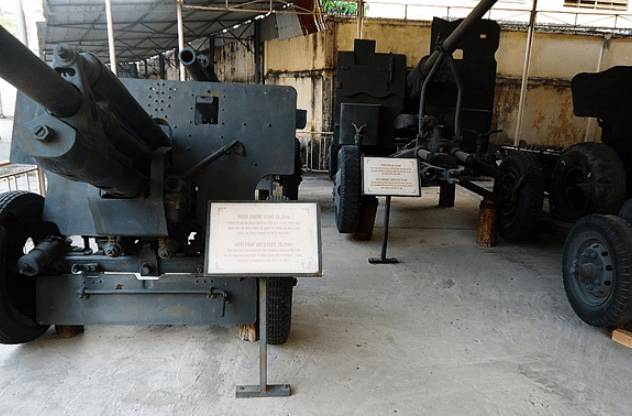 Các loại vũ khí được trưng bày trong bảo tàng (Ảnh ST)