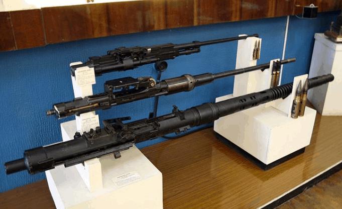 Vũ khí được trưng bày trong bảo tàng quân khu 9 (Ảnh ST)