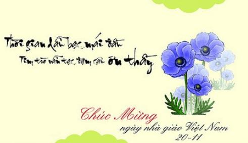 Thiệp tặng cô ngày 20-11 (Ảnh ST)