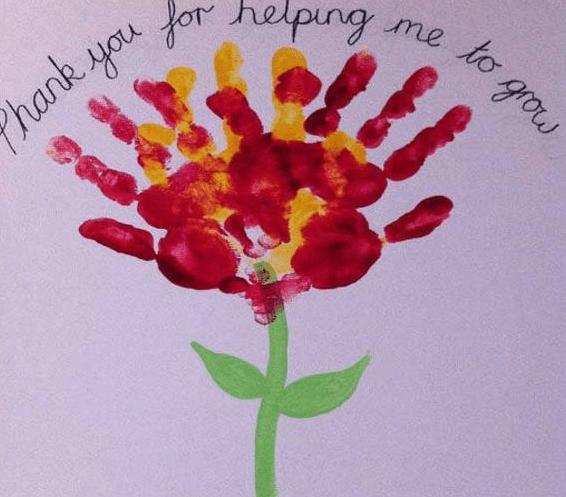 Thiệp đơn giản cho bé tặng thầy cô 20-11 (Ảnh ST)