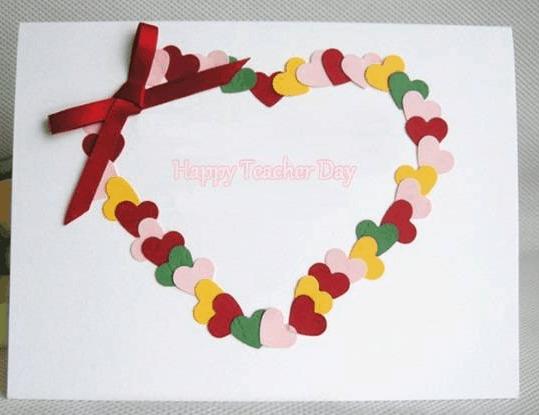 Thiệp handmade để tặng thầy cô (ảnh ST)
