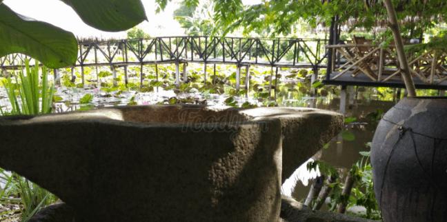 Cối đá trong vườn sinh thái Lê Lộc (Ảnh ST)