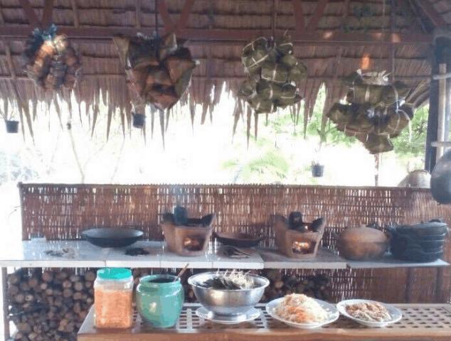 Gian bếp trong vườn sinh thái Lê Lộc (Ảnh ST)