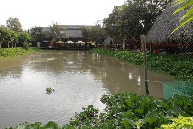 Khung cảnh làng quê ở vườn sinh thái Bảo Gia Trang Viên (Ảnh ST)