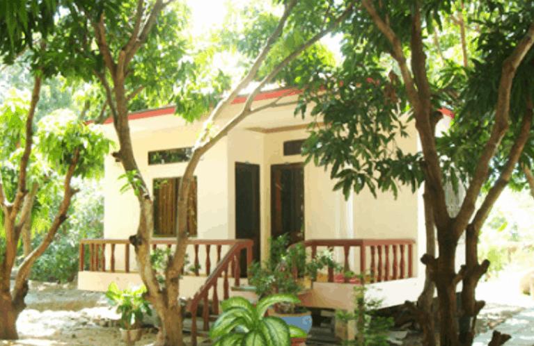 Phòng nghỉ được xây dựng ở khu vực thoáng mát