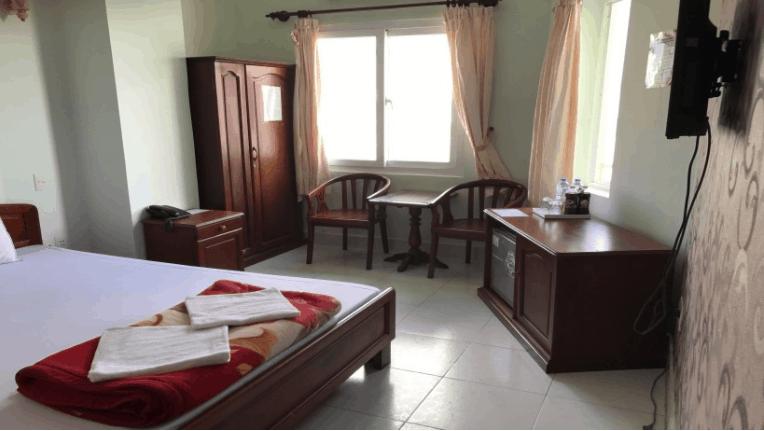 Phòng nghỉ đầy đủ nội thất