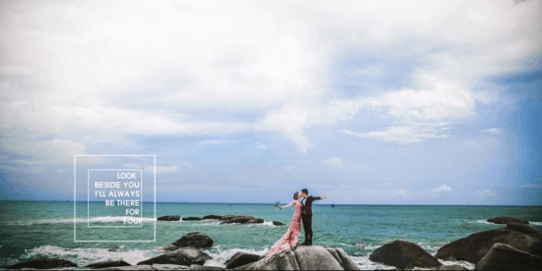 Biển Hồ Cốc là nơi chụp ảnh cưới nổi tiếng