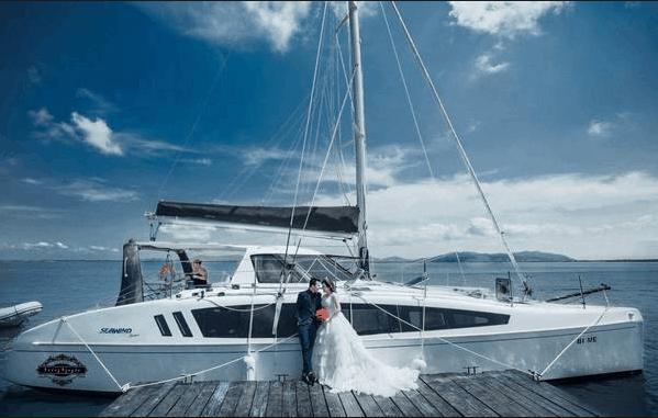 Bến du thuyền là địa điểm chụp ảnh cưới nổi tiếng