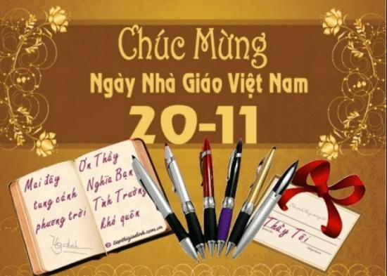 Chúc mùng ngày nhà giáo Việt Nam