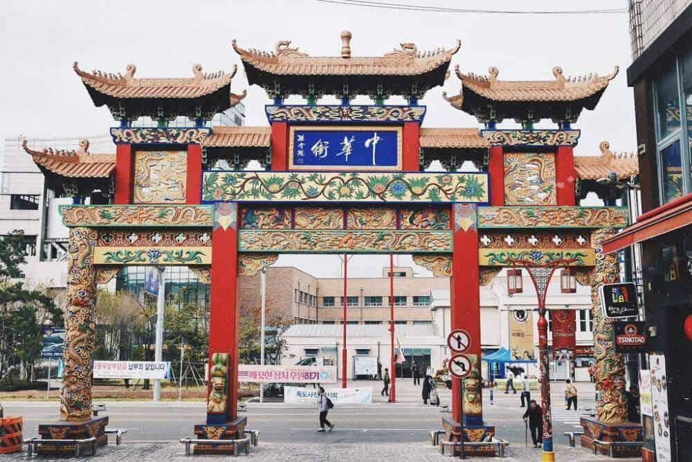 Địa điểm du lịch Hàn Quốc Incheon Chinatown