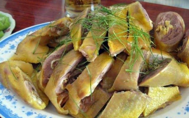 Gà mía - đặc sản ở Đường Lâm