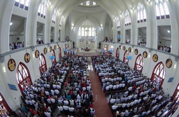 Hình ảnh ngày lễ tại nhà thờ Phú Cường