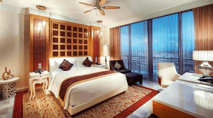 Khu phòng nghỉ hiện đại tại The Grand Hồ Tràm