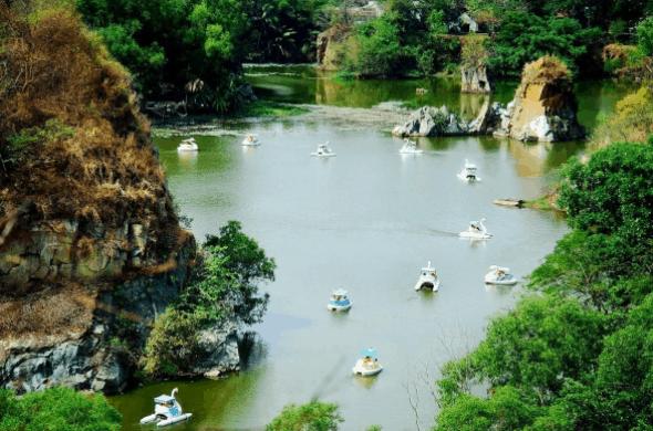 Khung cảnh tại khu du lịch Bửu Long