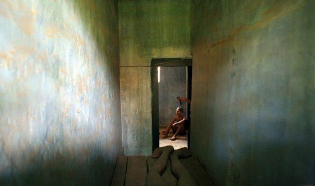 Bên trong một phòng giam của nhà tù Pleiku (Ảnh: Sưu tầm)