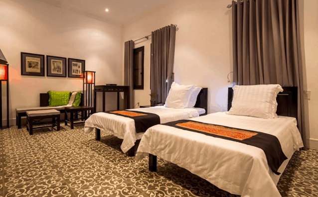 Phòng nghỉ sang trọng tại khách sạn La Maison De Campagne
