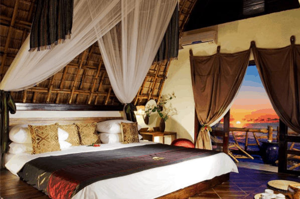 Không gian phòng nghỉ tuyệt đẹp, hòa hợp với thiên nhiên
