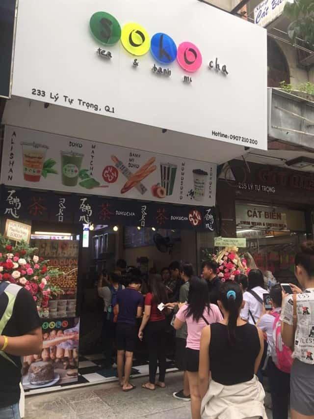 Quán trà sữa Soko Cha lúc nào cũng đông khách
