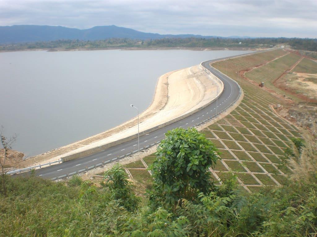 Toàn cảnh thủy điện Krông Năng. (Ảnh ST)