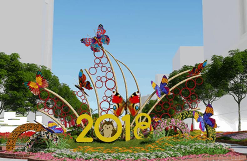 đường hoa nguyễn huệ 2018