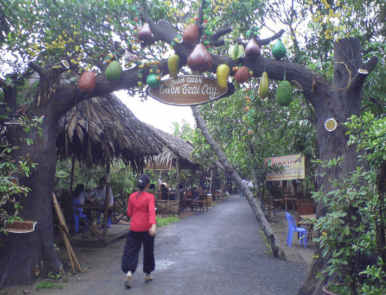 Cổng vào vườn trái cây Mỹ Khánh (Ảnh ST)