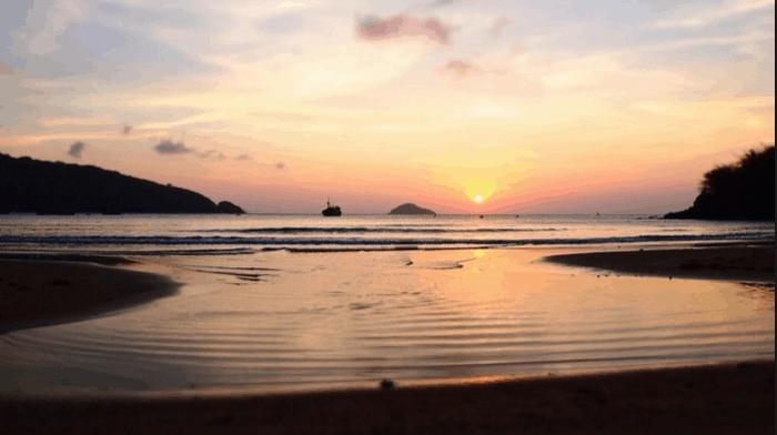 Mặt trời lặn trên bãi Đầm Trầu