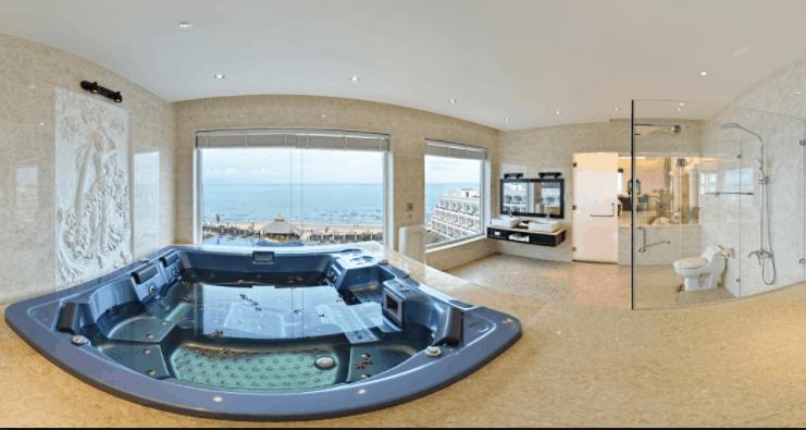 Phòng tắm đem lại cảm giác tuyệt vời cho du khách nghỉ ngơi tại resort