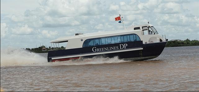 Tàu Greenlines chạy từ cảng Vũng Tàu hoặc cảng thành phố Hồ Chí Minh