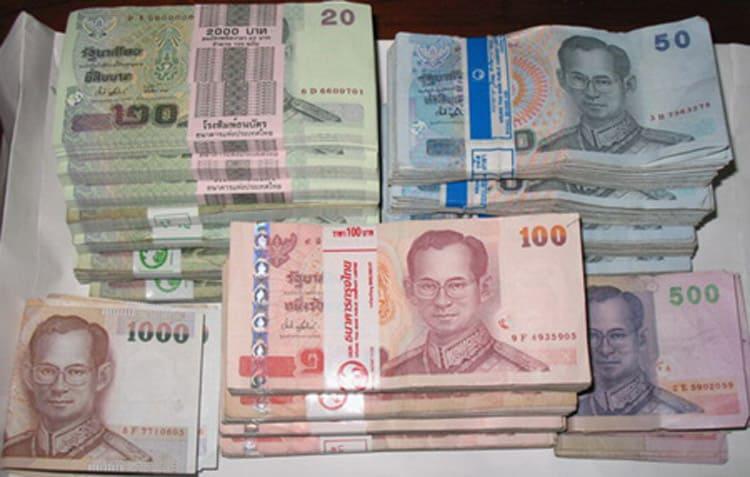 Cố gắng đổi tiền Thái với nhiều loại mệnh giá nhé (ẢNH ST)