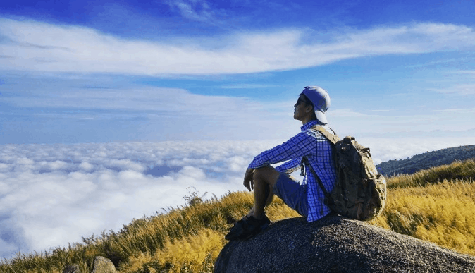 Beautiful view at Chua Chan mountain
