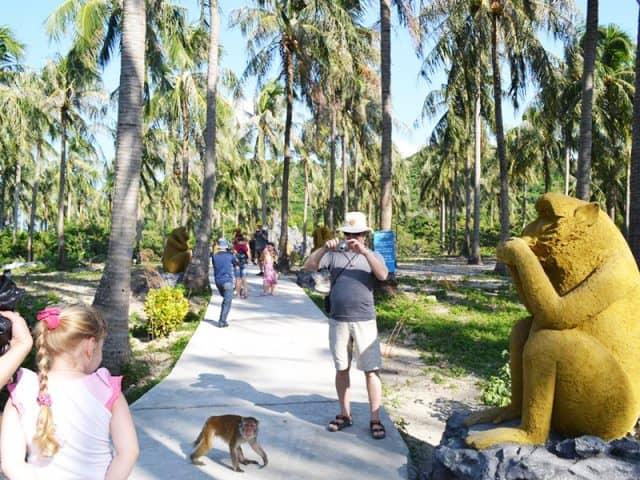 Khu khách tới với đảo Khỉ rất đông (Ảnh ST)