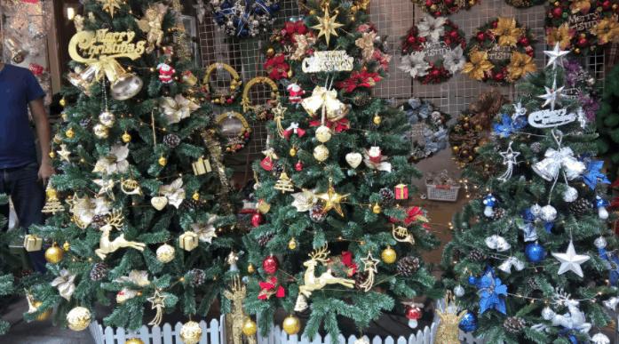 Hình ảnh những cây thông Noel được trang trí bắt mắt
