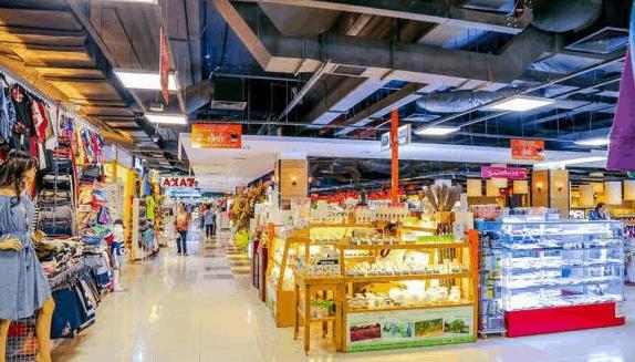 Hình ảnh khu mua sắm tại Sense Market