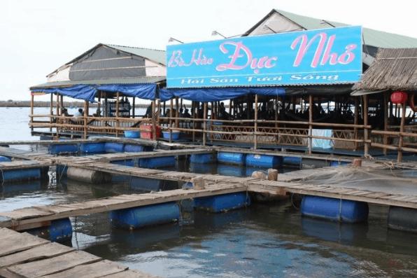 Hình ảnh quán bè nổi đảo Long Sơn