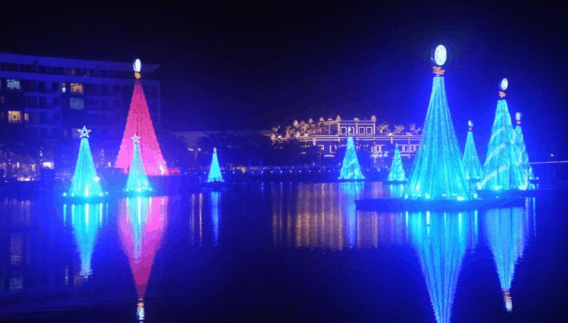 Hồ Bình An về đêm