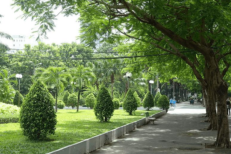 Không gian xanh và mát mẻ tại công viên 23 tháng 9