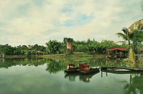 Không gian xanh mát, yên tĩnh tại khu du lịch sinh thái Cao Minh