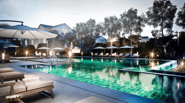 Khu bể bơi tuyệt đẹp tại Sông Bé Golf Resort