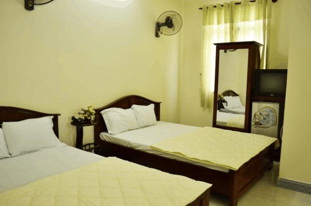 Phòng nghỉ tại Hoa Lộc được trang trí màu sắc trang nhã