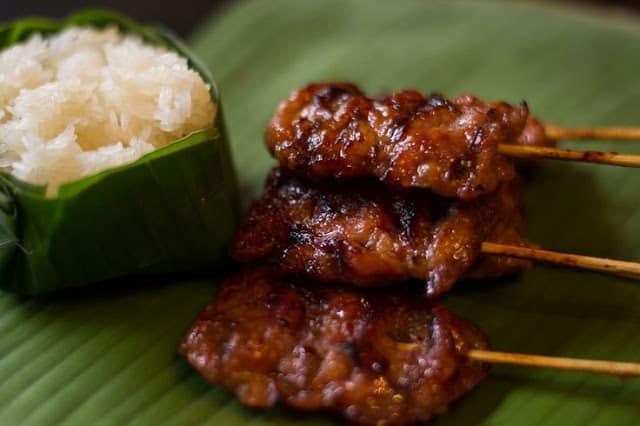 Thịt xiên nướng siêu ngon của Thái Lan (ẢNH ST)