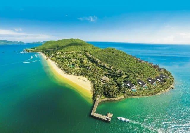 Toàn cảnh đảo Dừa từ trên cao ( Ảnh sưu tầm)