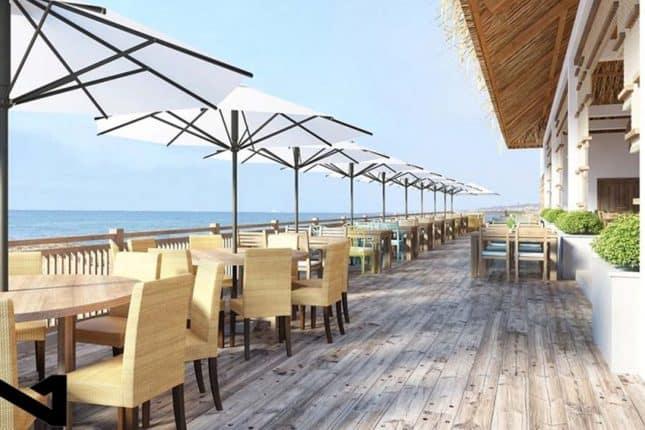 Quán cafe trong resort (Ảnh ST)